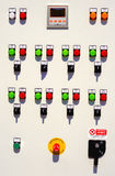 Electric control panel board Royalty Free Stock Photos