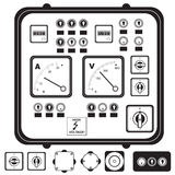 Electric control panel Royalty Free Stock Images