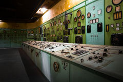 Electric controller room in an old metallurgical firm Stock Image