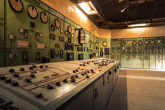 Electric controller room in an old metallurgical firm Stock Photography
