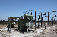 Electric converter station Royalty Free Stock Image