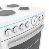 Electric cooker. Details of front panel on electric cooker Royalty Free Stock Image