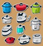 Electric cooker set. Illustration of sketchy doodle electric cooker set Stock Photos