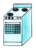 Electric cooker (stove) Stock Image