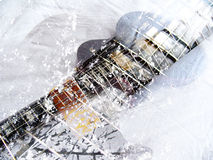 Electric cubist guitar Royalty Free Stock Photos
