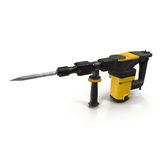Electric Demolition Jack Hammer on White 3D Illistration. 3d model of Electric Demolition Jack Hammer on White Background 3D Illistration Royalty Free Stock Photos