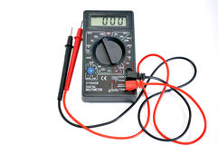 Electric device. The device for measurement of an electric pressure, resistance and force of a current Stock Images