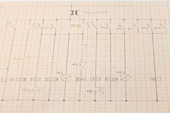 Electric diagram. On millimeters paper Stock Image