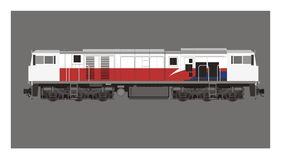 Electric diesel locomotive illustration Royalty Free Stock Images