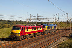 Electric & diesel trains Stock Photo
