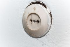 Electric dirty socket Stock Images