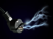 Electric discharge. Stock Photos