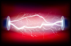 Electric discharge. Vector illustration. Royalty Free Stock Photos
