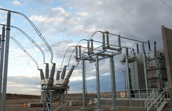 Electric disconnect and transformer. Electric disconnect for power generating unit royalty free stock images
