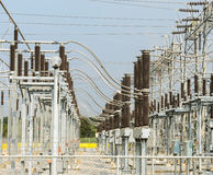 Electric distribution substation Royalty Free Stock Photos