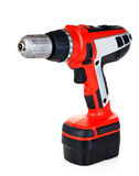 Electric drill. Isolated on white background Stock Photo