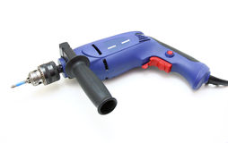 The electric drill. On white background with clipping path Stock Images