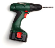 Electric drill. Isolated on a white background stock image