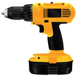 Electric drill with battery Royalty Free Stock Photography
