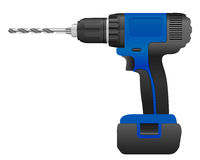 Electric drill and bit Royalty Free Stock Photo