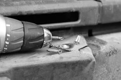 Electric Drill And Bumper Royalty Free Stock Images