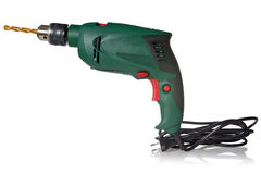 Electric drill with cord Stock Photo