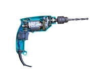 Electric drill inside Royalty Free Stock Image