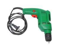 Electric drill isolated on white background Royalty Free Stock Photo