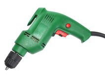 Electric drill isolated on white background Stock Photography