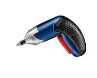 Electric drill isolated. On white background Stock Images