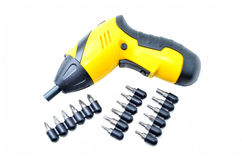 Electric drill screw driver Stock Image