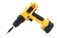 Electric drill or screwdriver royalty free stock photography