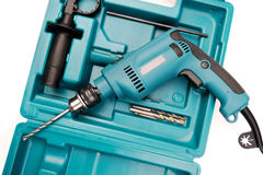 Electric drill in a toolbox Royalty Free Stock Photo