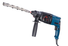 Electric drilling machine on white background Royalty Free Stock Photo