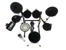 Electric Drums. Modern electric drum set isolated on white Stock Photography