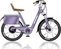Electric E-bike bicycle vector illustration Royalty Free Stock Photo
