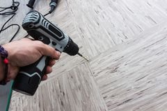 Electric electric screwdriver. royalty free stock image