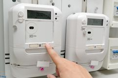 Electric energy meter. royalty free stock image