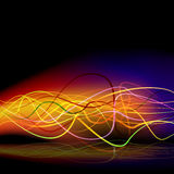 Electric Energy Wave Background Royalty Free Stock Images
