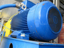 Electric engine fan. The electric motor used to drive the exhaust fan royalty free stock photo