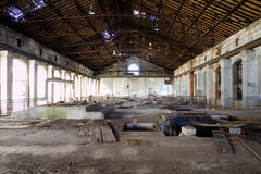 Electric factory roof. Mine factory for electic and repair Royalty Free Stock Images