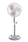 Electric fan. Isolated in white background Stock Photos