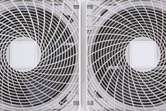 Electric fan aircondition. Condenser fan air through the use of old rust Stock Photography