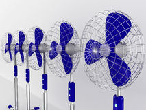 Electric fan blower Stock Photos