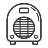 Electric fan heater line icon, household appliance Stock Photo