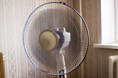 Electric fan in the room. Operated ventilator Royalty Free Stock Images