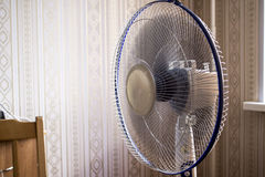 Electric fan in the room. Operated ventilator Royalty Free Stock Photography