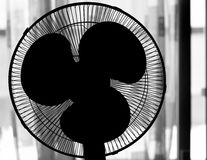 Electric Fan Silhouette. On light background Royalty Free Stock Image