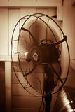Electric fan vintage. Electric fan in vintage style royalty free stock photos