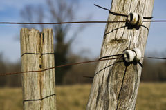 Electric fence. Royalty Free Stock Photography